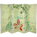 Garden Gate 5.25-Foot Tall Canvas Room Divider (China)