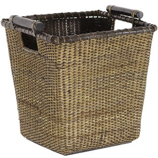 Rattan Storage Bin with Pole Handles (China)