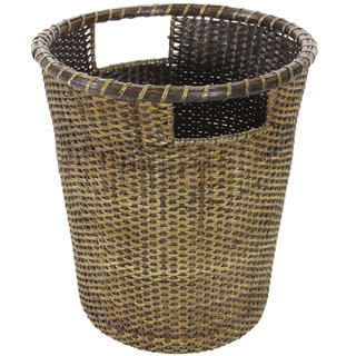 Rattan Small Desk Waste Basket (China)
