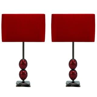 Casa Cortes Red Lumina 25-inch Table Lamp (Set of 2)