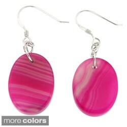 Pearlz Ocean Banded Agate Oval Earrings