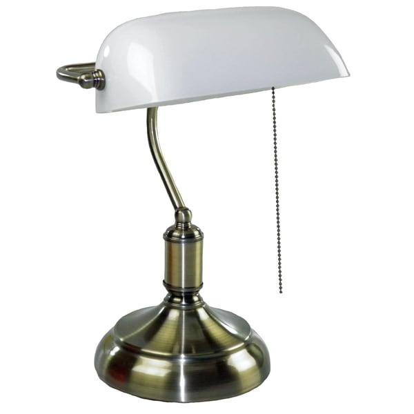 Antique Oil Bronze Bankers Lamp Overstock