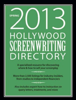 Hollywood Screenwriting Directory Spring 2013 (Paperback)