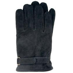 Isotoner Men's Black Medium Suede Gloves
