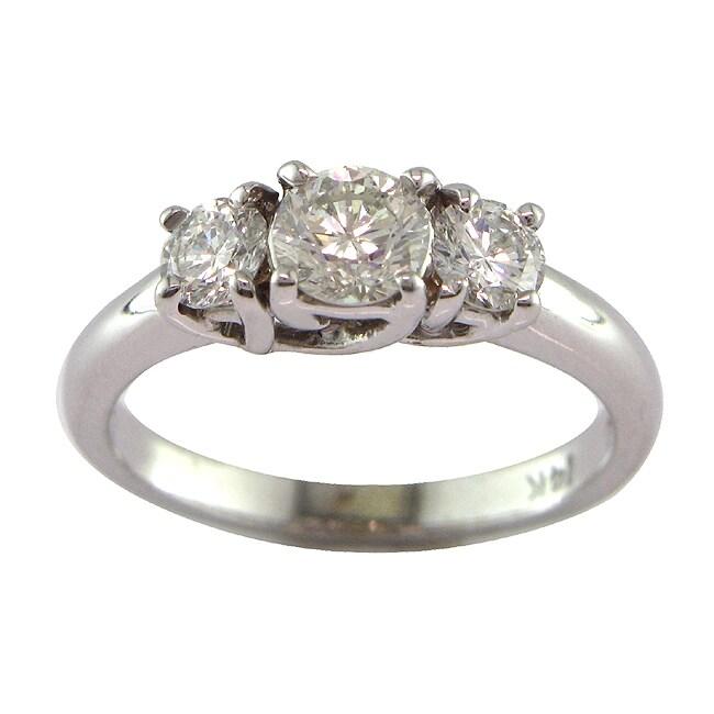 14k White Gold 1ct TDW Certified Clarity-Enhanced Diamond Ring (G-H, SI1)