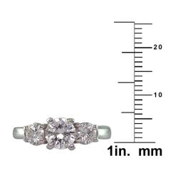 14k White Gold 1 1/3ct TDW Certified Clarity-Enhanced Diamond Ring (F-G, SI2-SI3)