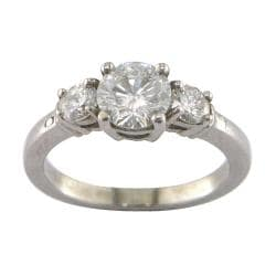 14k White Gold 1 1/3ct TDW Certified Clarity-Enhanced Diamond Ring (F-G, SI2)