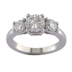 14k White Gold 1 3/4ct TDW Certified Clarity-Enhanced Diamond Ring (G-H, SI1)