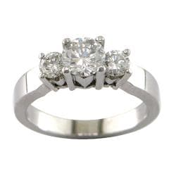 14k White Gold 1 1/5ct TDW Certified Clarity-Enhanced Diamond Ring (E-F, SI3)