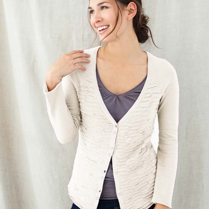 Cream Estate Cardigan Sweater (Peru)
