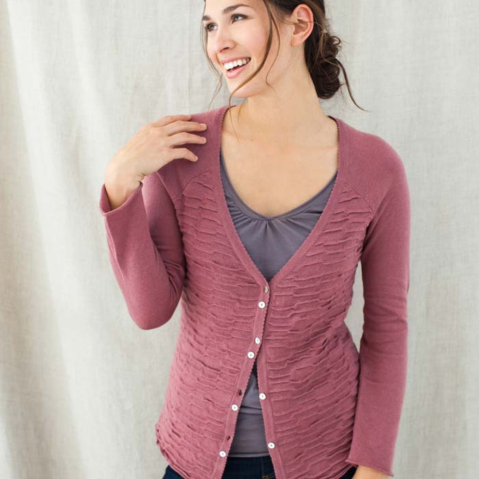 Mauve Estate Cardigan Sweater (Peru)