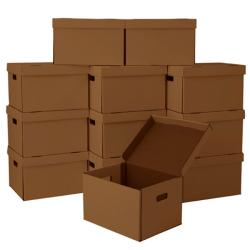 Corrugated-cardboard File Moving and Storage Boxes (Pack of 12)