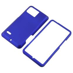 Blue Rubber-coated Case for Motorola Droid Bionic XT875