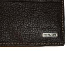 discount designer mens wallets 1hfe  Michael Kors Men's Brown Leather Bi-fold Wallet