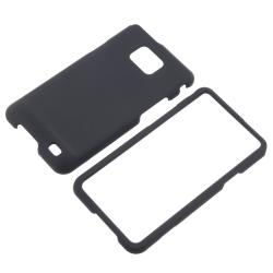 Black Rubber-coated Case Protector for Samsung Galaxy S i9100