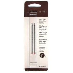 Cross Mini Ballpoint Medium Red Pen Refills (Pack of 2)