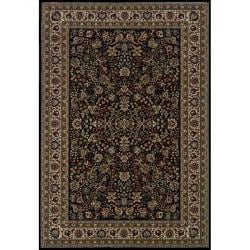 Astoria Black/ Ivory Traditional Area Rug (10' x 12'7)