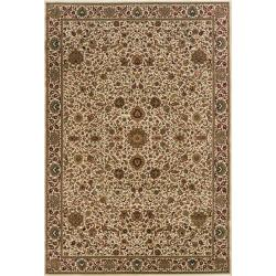 Astoria Ivory/ Brown Traditional Area Rug (10' x 12'7)