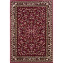 Astoria Red/ Ivory Traditional Area Rug (10' x 12'7)
