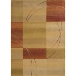 Baldwin Beige/Rust Contemporary Area Rug (9'9 x 12'2)