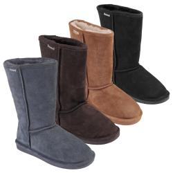 Bearpaw Womens Emma 10-inch Sheepskin-lined Suede Boot