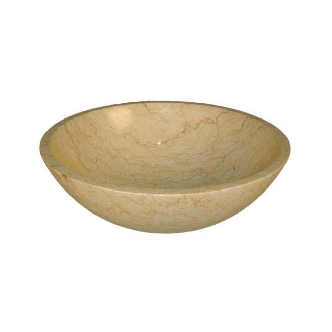 Silkroad Exclusive Crema Marfil Marble Stone Vessel Sink