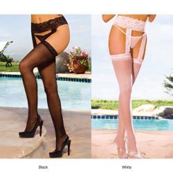 Emaje' Women's Sheer Lace Top Garter Belts (Set of 2)