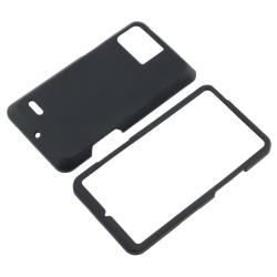 Black Snap-on Rubber Coated Case for Motorola Droid Bionic XT875