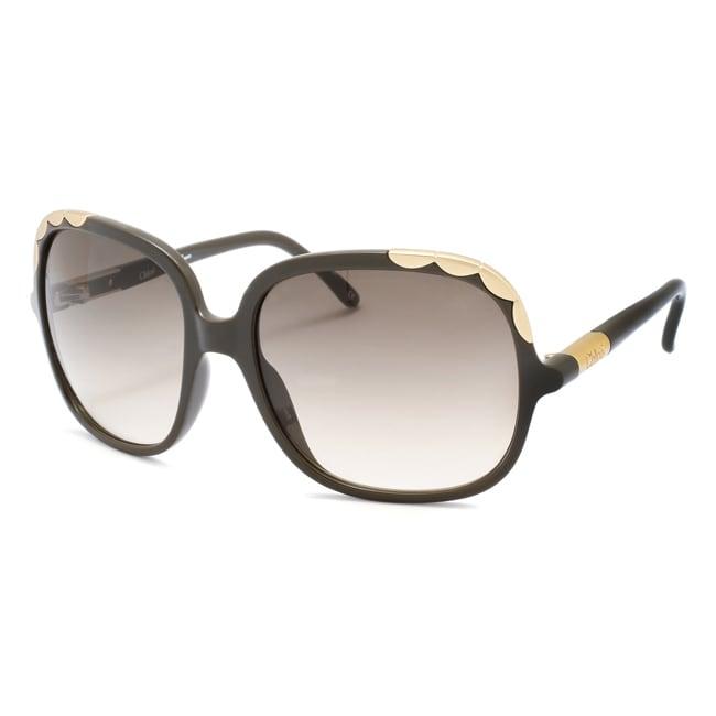 Chloe Women's 'Erine' Khaki Fashion Sunglasses