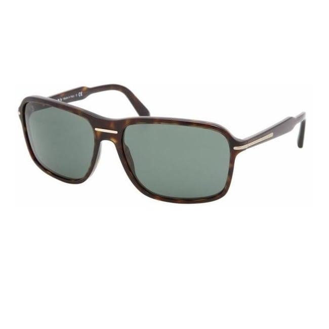 Prada Women's Havana Plastic Fashion Sunglasses