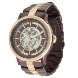 Kenneth Cole New York Men&#39;s Brown and Rose Automatic Watch