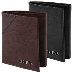 Guess Men's Textured Tri-Fold Passcase Wallet