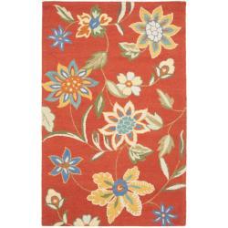 Safavieh Handmade Blossom Rust Wool Rug (4' x 6')