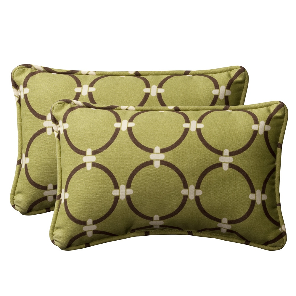 pillow perfect decorative green brown geometric outdoor toss pillows set of 2 13937487. Black Bedroom Furniture Sets. Home Design Ideas