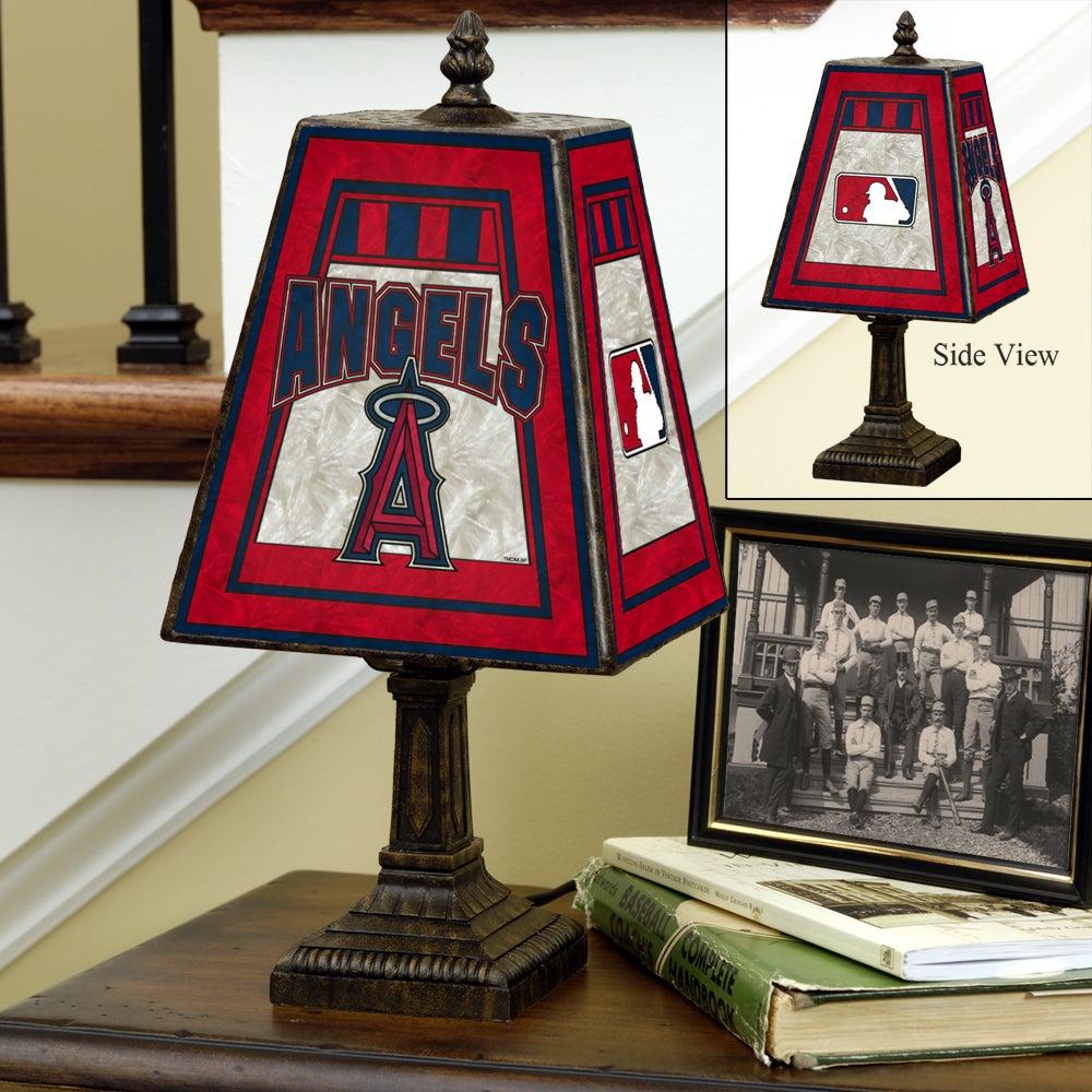 Anaheim Angels 14-inch Art Glass Lamp