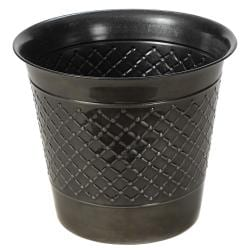 Metal 16-inch Check Planter (Set of 2)