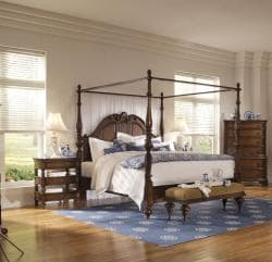 British Heritage California King Poster Bed with Canopy