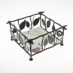 Metal Cocktail Twigs and Leaves Napkin Holder
