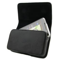Black Leather Case for LG Vortex VS660/ P509 Optimus T