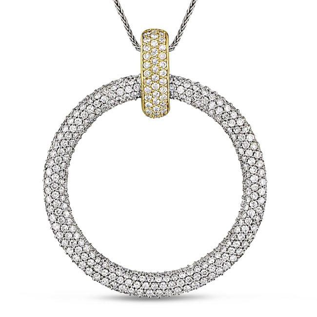 Miadora 18k Two-tone Gold 4 1/5ct TDW Diamond Necklace (G-H, SI1-SI2)