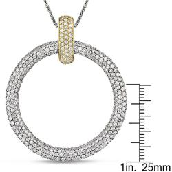 Miadora 18k Two-tone Gold 4 1/5ct TDW Diamond Necklace (G-H, SI1-SI2)