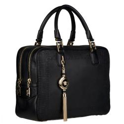 Versace Black Leather Satchel