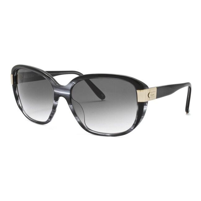 Chloe Women's 'Sally' Gray Horn Fashion Sunglasses