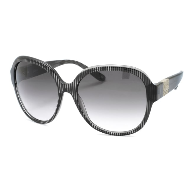 Chloe Women's 'Cirse' Transparent Black Plastic Fashion Sunglasses