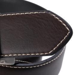 Tommy Hilfiger Men's Reversible Topstitched Genuine Leather Belt