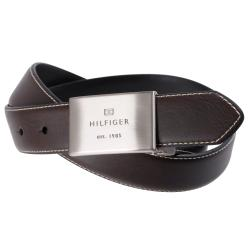 Tommy Hilfiger Men's Reversible Topstitched Genuine Leather Belt