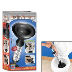 Drain Buster Revolutionary Plunger, works on toilet sinks, tubs and showers!