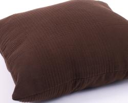 Chocolate Brown Ribbed Cotton Decorative Pillows (Set of 2)
