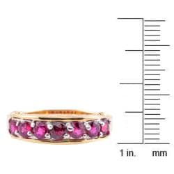 Michael Valitutti 14k Yellow Gold Ruby Ring