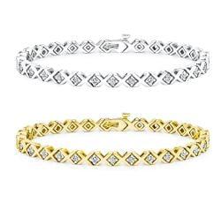 14k Gold 1 1/2ct TDW Diamond Tennis Bracelet (I-J, I1-I2)